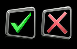 No and yes signs. Illustration of no and yes signs icon Royalty Free Stock Images