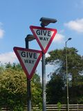 No, YOU give way... stock photo