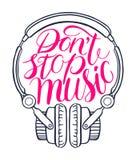 No zatrzymuje music-03 Obraz Stock