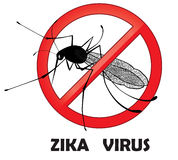 No zika mosquito gnat insect vector sign. Carry many disease such as dengue fever, zika virus, yellow fever, chikungunya disease Stock Photo