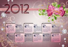 No1 2012 do calendário Fotografia de Stock