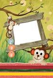 No1 del blocco per grafici del giardino zoologico Fotografie Stock