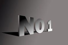no1 för bokstav 3d Arkivfoto