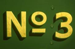 No3 Stock Photography