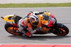 NO3 Dani Pedrosa au Malaysian Motogp d'interpréteur de commandes interactif Images stock