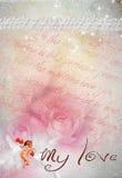No3 della scheda del biglietto di S. Valentino Fotografia Stock Libera da Diritti