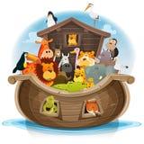 Noah Bak met Leuke Dieren vector illustratie