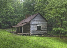 Noah Bud Ogle Log Cabin, Great Smoky Mountains National Park Stock Photography