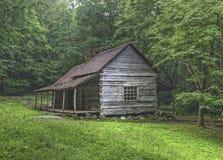 Noah Bud Ogle Log Cabin, parc national de Great Smoky Mountains photographie stock