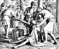 Noah Curses Canaan, Zoon van Ham Stock Afbeeldingen