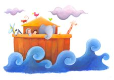 Noah ed inondazione Fotografia Stock Libera da Diritti