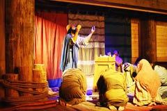 Noah en Zijn God van Familieworshiping royalty-vrije stock foto's