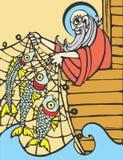 Noah Fishing Stock Photo