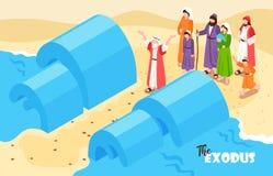 Noah Flood Bible Background ilustração stock