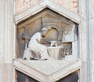 Noah, Florence Cathedral. Noah by Collaborator of Andrea Pisano, 1334-36., Relief on Giotto Campanile of Cattedrale di Santa Maria del Fiore Cathedral of Saint Stock Photography