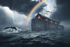 Noah het Verhaal van de Bakbijbel stock foto's