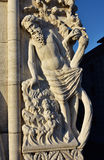 Noah pijaństwa rzeźba od doża pałac (przy zmierzchem) fotografia royalty free