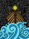 Noah's Ark. An abstract cartoon of Noah's ark Royalty Free Stock Photo
