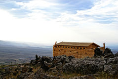 Noah's Ark. On Mount Ararat. Ark is generated digitally Stock Photos