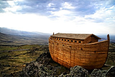 Noah's Ark. Noah's Ark on Mount Ararat. Ark is generated digitally Royalty Free Stock Photos
