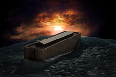 Noah's Ark. Riding on a swell after the Great Flood Royalty Free Stock Photo