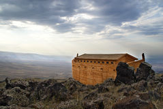 Noah's Ark. On Mount Ararat. Ark is generated digitally Royalty Free Stock Image