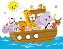 noah's ark stock illustration