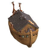 Noah's Ark. With a handful of animals. With Clipping Path Stock Photo