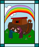 Noah s ark. All the animals left already, only the two slowest animals (the snails) are still there! ;) and who are the shadows inside the Ark? See my Royalty Free Stock Photography