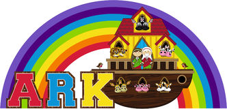 Noah`s Ark and the Animals. An EPS file is also available Stock Photos