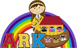 Noah`s Ark and the Animals Royalty Free Stock Images