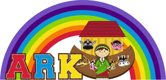 Noah`s Ark and the Animals Stock Photography