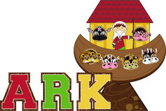 Noah`s Ark and the Animals Stock Photo