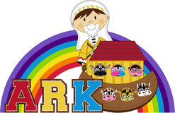 Noah`s Ark and the Animals Stock Image