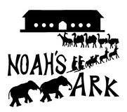 Noah's Ark with animals vector illustration.  Stock Photos