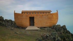 Noah`s ark on Ararat mount stock video footage