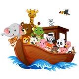 Noah`s Ark cartoon. Illustration of Noah`s Ark cartoon Royalty Free Stock Photography