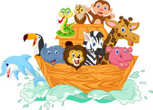 Noah's Ark cartoon Royalty Free Stock Images