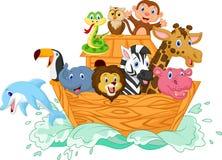 Noah's Ark cartoon. Illustration of Noah's Ark cartoon Royalty Free Stock Images