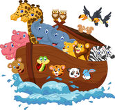 Noah's Ark cartoon Royalty Free Stock Image