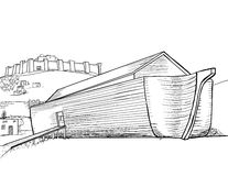 Noah's Ark Completed. A sketch drawing of Noah's ark Royalty Free Stock Images