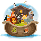 Noah's Ark With Cute Animals Stock Image
