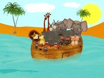 Noah's ark. 3d illustration on the religious theme Royalty Free Stock Photos