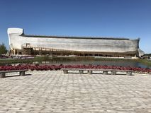 Noah`s Ark Exterior in the Ark Encounter Theme Park Stock Image