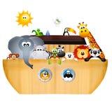 Noah's ark. Illustration of animals on Noah's ark Stock Photography
