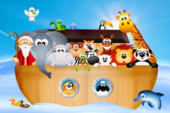 Noah's ark. Illustration of animals on Noah's ark Royalty Free Stock Photos