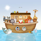 Noah's ark. Illustration of animals on Noah's ark Royalty Free Stock Photo