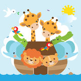Noah's Ark  illustration Royalty Free Stock Photo