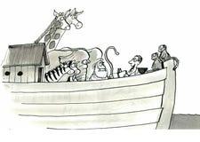 Noah's Ark. Journalist is on board Noah's Ark Royalty Free Stock Photo