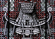 Noah`s Ark. A stained glass photo of the ark of Noah royalty free stock image